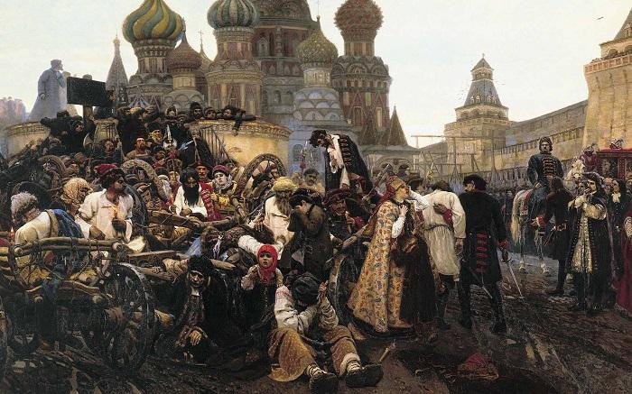 Утро стрелецкой казни. В. И. Суриков, 1878-1881 гг. | Фото: 404store.com.