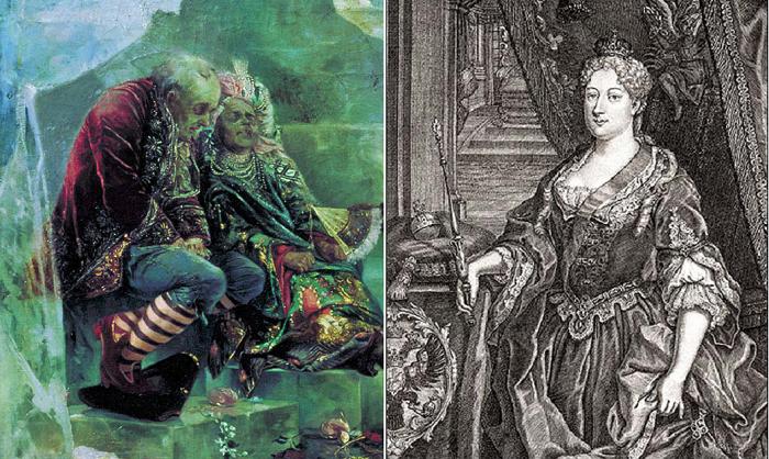 Анна Иоанновна устроила шутовскую свадьбу в 1740 году.