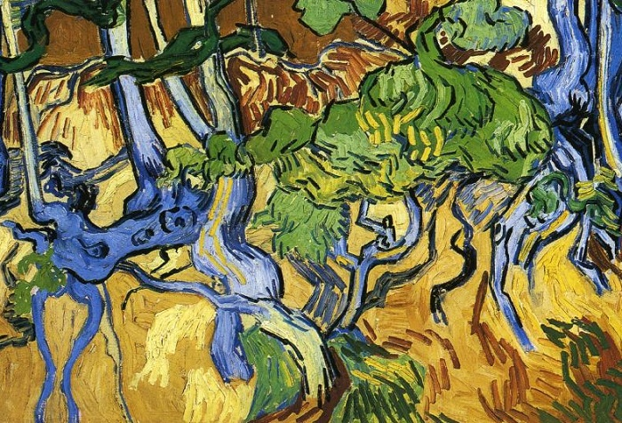 Корни деревьев (фрагмент). Винсент ван Гог, 1890 г.   Фото: ru.wahooart.com.