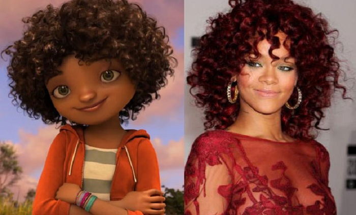 Певица Rihanna, озвучившая девочку-подростка в м/ф «Дом». | Фото: deccanchronicle.com.
