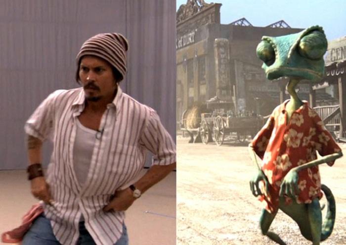 Актер Johnny Depp, «передавший» своему мультгерою голос и движения. | Фото: elle.ru.