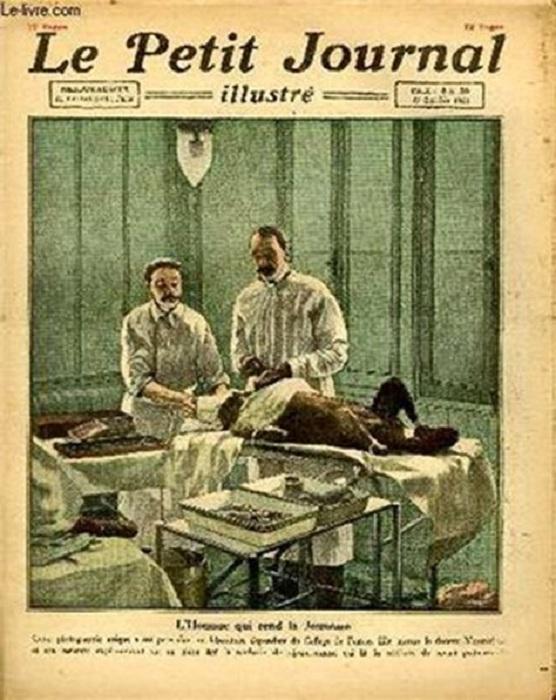 Обложка французского журнала с изображением Воронова, оперирующего обезьяну. | Фото: lh5.ggpht.com.