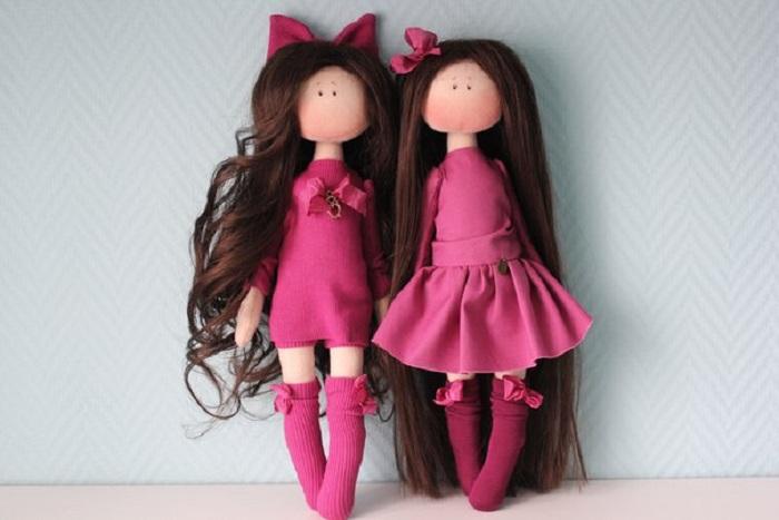 Интерьерные куколки от российской рукодельницы.