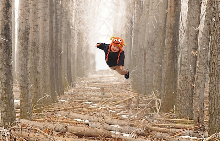 Wil can fly – снимок «летающего» ребенка.