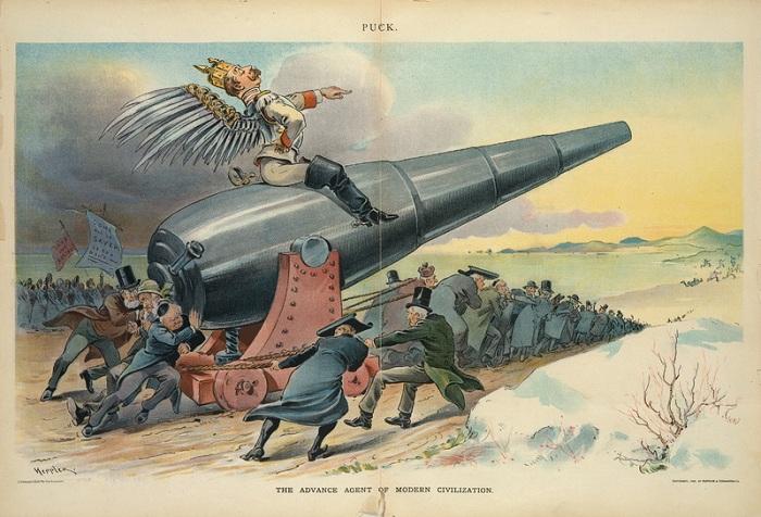 Карикатура на Вильгельма II. | Фото: apjjf.org.