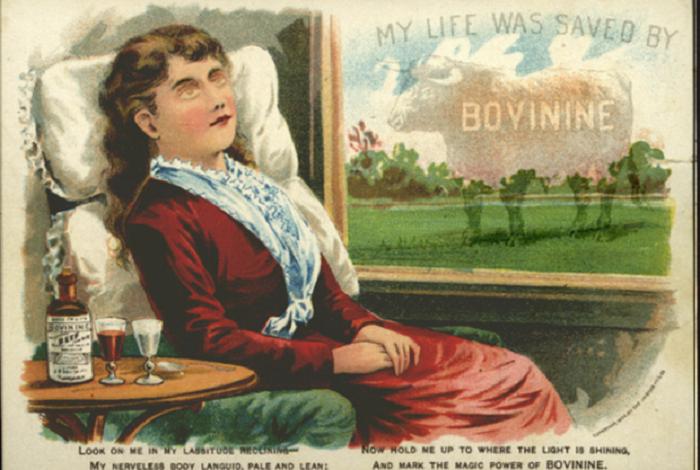 Бовинин - настойка на говяжьей крови. | Фото: images.mentalfloss.com.