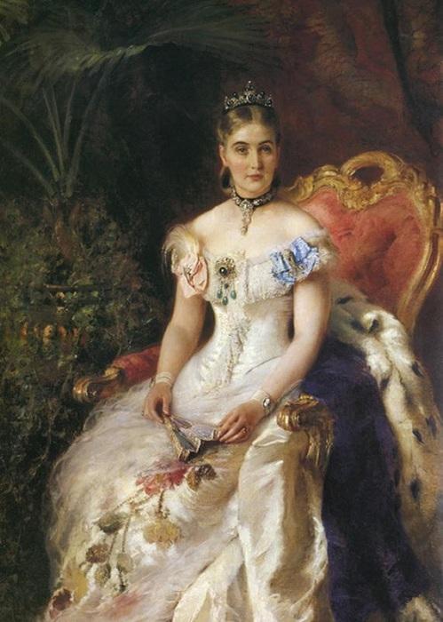 Портрет Марии Михайловны Волконской. К. Маковский.