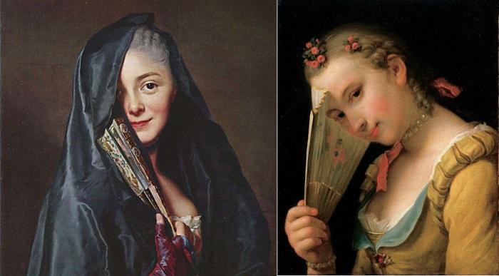 Веер - самый красноречивый инструмент женского флирта.