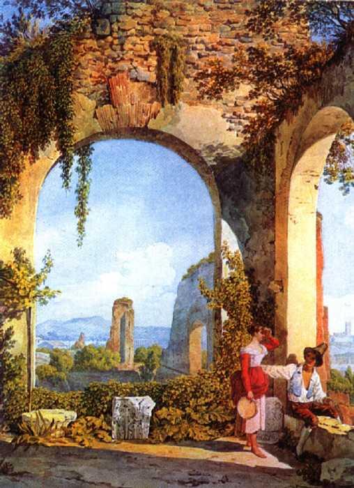 Итальянские руины, 1822-26 гг. | Фото: artsait.ru.
