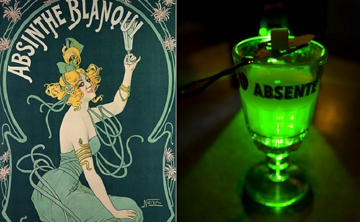 Абсент - напиток, содержащий 70 % спирта.