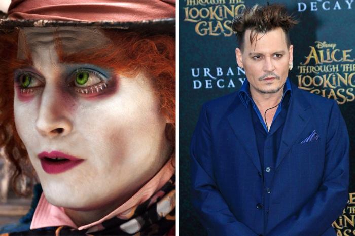 Мастер перевоплощения Джонни Депп (Johnny Depp) в роли Безумного шляпника в к/ф «Алиса в стране чудес» (2010). | Фото: vanityfair.com.