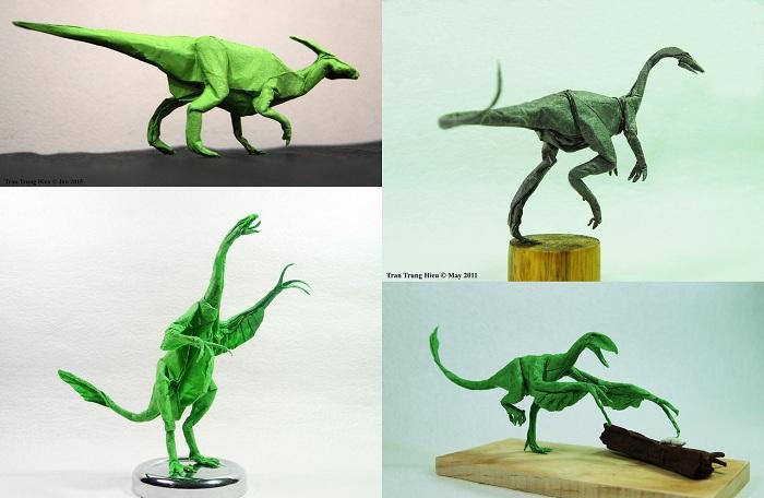 Динозавры-оригами.