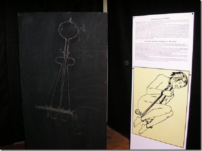 «Аист» - орудие пытки, обездвиживавшее тело жертвы. | Фото: lifeglobe.net.