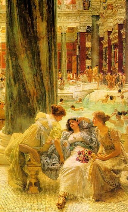 Термы Каракаллы. Лоуренс Альма-Тадема, 1899 год. | Фото: liveinternet.ru.