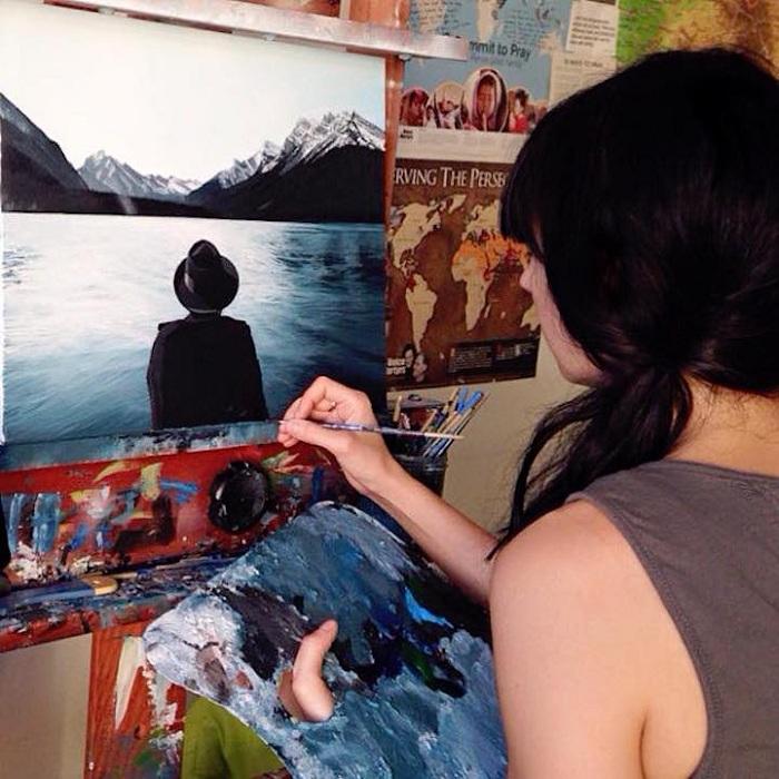 Andreea Berindei рисует картины, напоминающие фотографии.