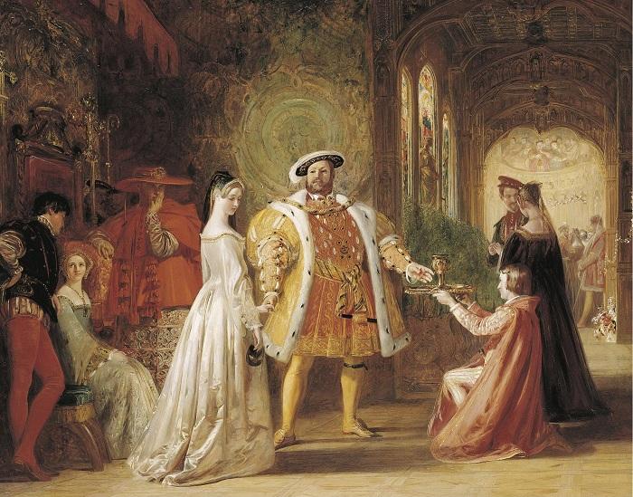 Первая встреча Генриха VIII с Анной Болейн. Худ. D. Maclise, 1835 г. | Фото: turambar.ru.