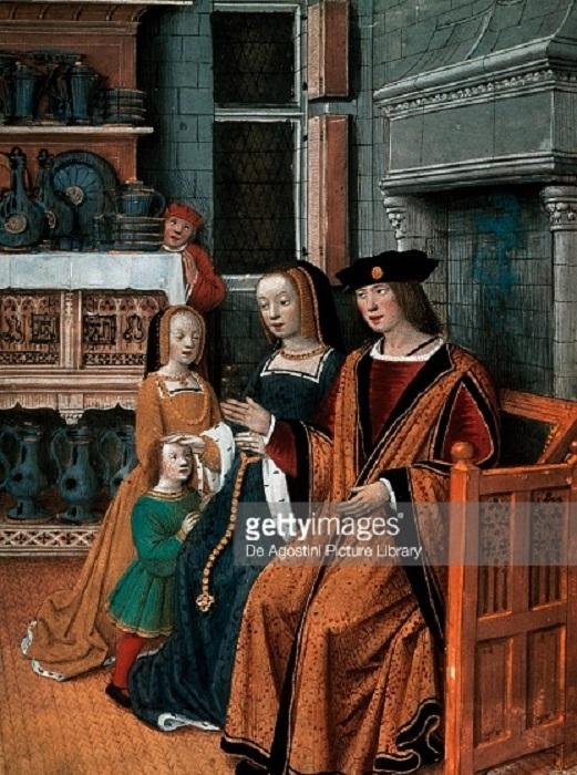 Людовик XII и Анна Бретонская с дочерьми. | Фото: media.gettyimages.com.