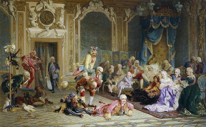 Шуты при дворе императрицы Анны Иоанновны, В. Якоби, 1872 год. | Фото: filurin.ru.