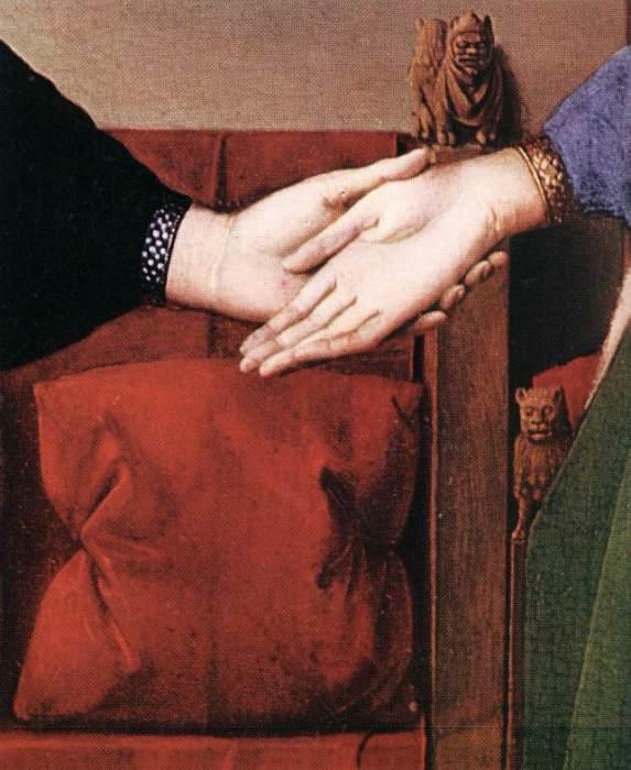 Супруг подает левую руку - символ неравного брака. | Фото: artchive.ru.