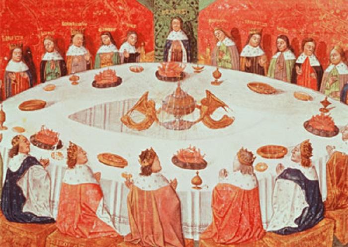 Иллюстрация из манускрипта «Ланселот-Грааль» Мишеля Гантее, написанного в 1470 году. | Фото: ancient-code.com.