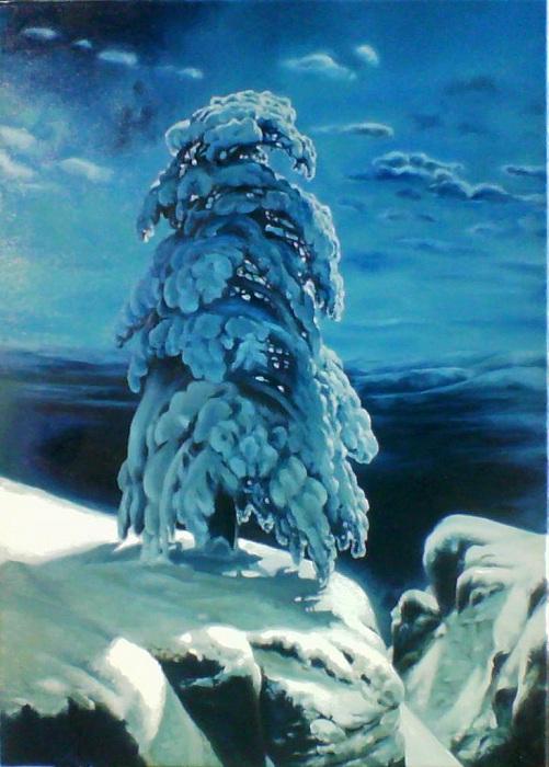 На севере диком. И. Шишкин. 1890. | Фото: artonline.ru.