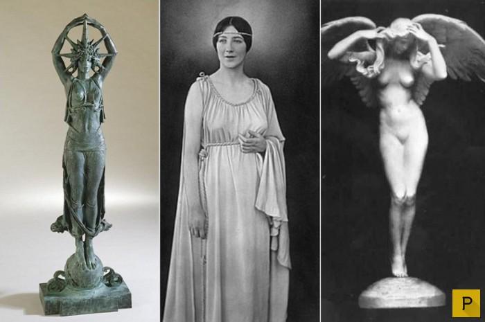 Одри Мэнсон и скульптуры с ее изображением.