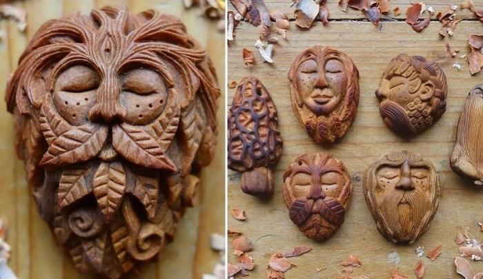 Фигурки, изображающие лесных духов. | Фото: mymodernmet.com.