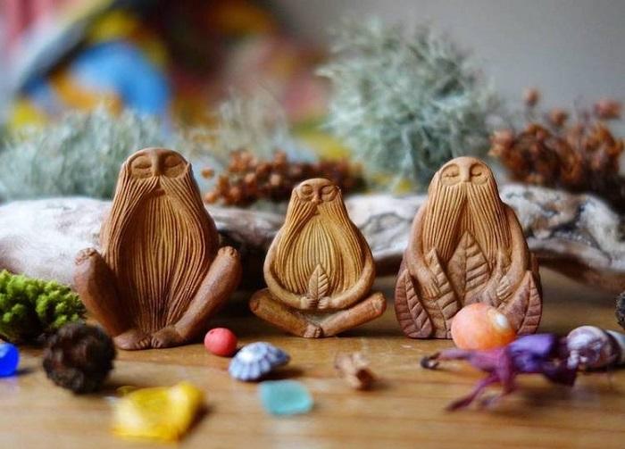 Тотемы, сделанные Джен Кэмпбелл. | Фото: mymodernmet.com.
