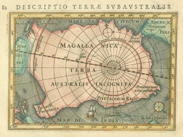 Карта Terra Australis Incognita. | Фото: colors.life.