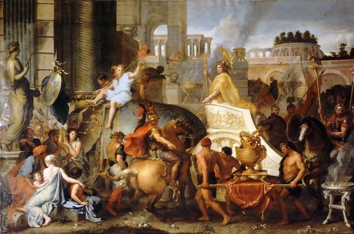 Триумфальный въезд Александра в Вавилон. Шарль Лебрен. | Фото: diletant.media.