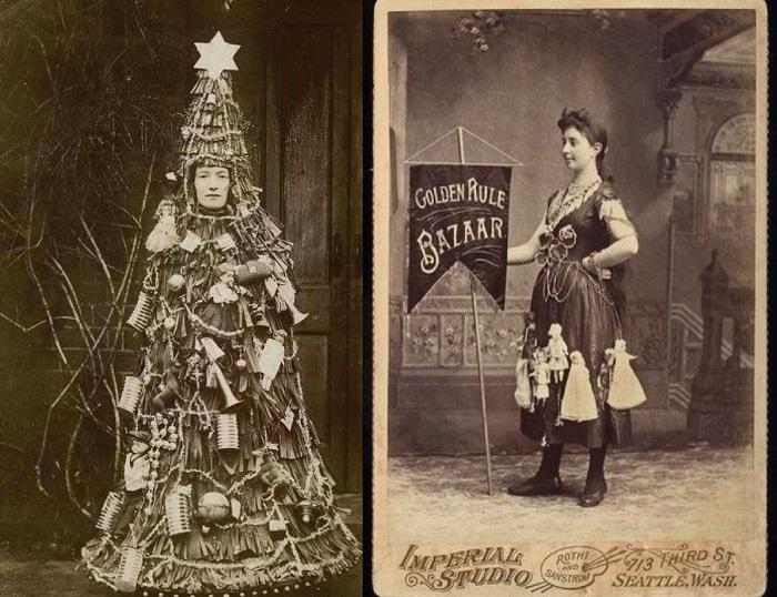 Женщины в рекламных платья. | Фото: messynessychic.com.