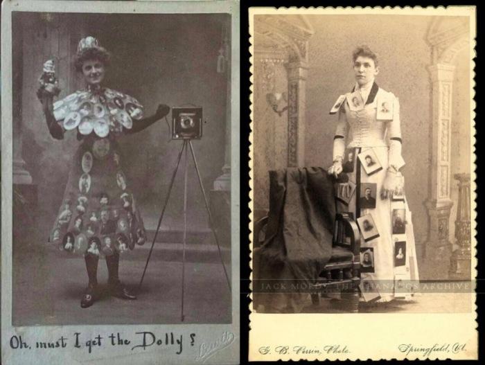 Платья, украшенные фотографиями. | Фото: messynessychic.com.