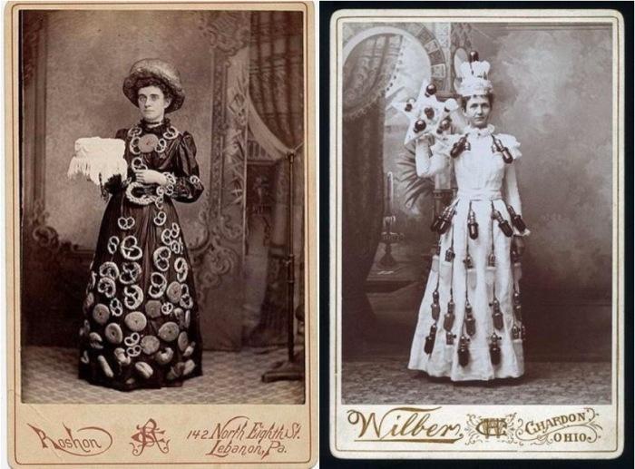 Платья с кренделями и электрическими лампочками. | Фото: messynessychic.com.