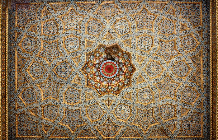 Потолок узбекской мечети.