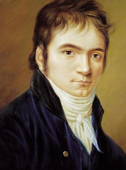 Портрет Людвига ван Бетховена. Christian Horneman, 1809. | Фото: musicwithease.com.