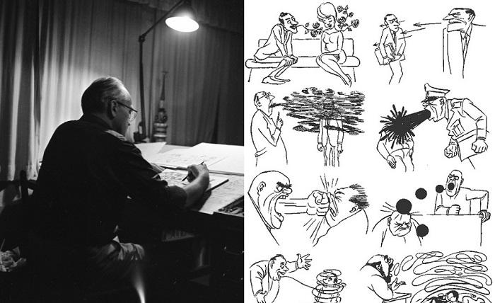 Карикатуры Херлуфа Бидструпа