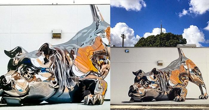 Потрясающий стрит-арт от Bik Ismo.