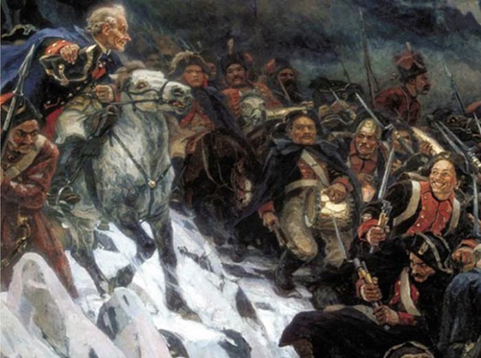 Переход через Альпы Александра Суворова. | Фото: get.whotrades.com.