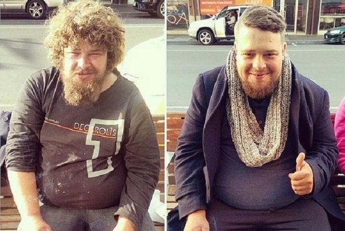 Парень бесплатно подстригает бездомных на улицах города.