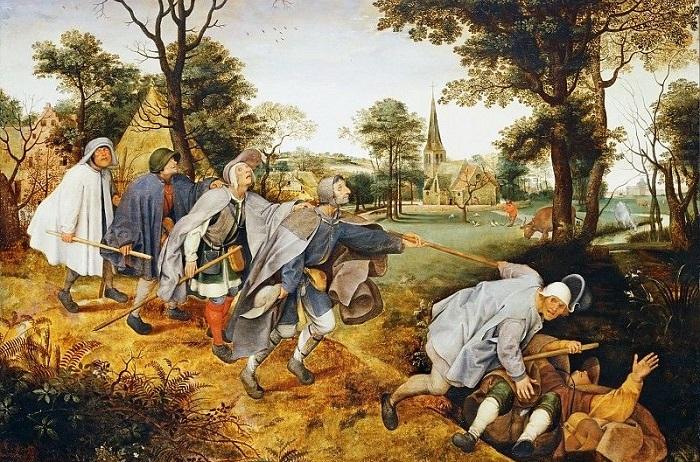 Слепые (Притча о слепых). Питер Брейгель Старший, 1568 год. | Фото: artist-gallery.ru.