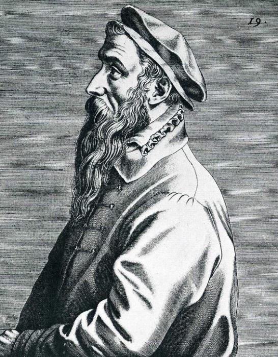 Портрет Брейгеля. Доминик Лампсоний, 1572 год. | Фото: bersoantik.com.