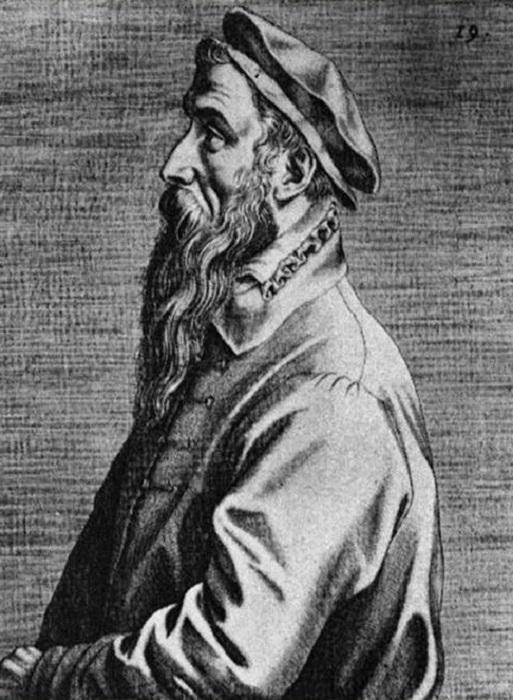 Портрет Питера Брейгеля Старшего. Доминик Лампсоний, 1572 год. | Фото:  900igr.net.