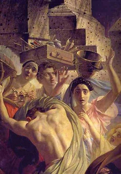 Последний день Помпеи. Фрагмент.   Фото: savepic.org.