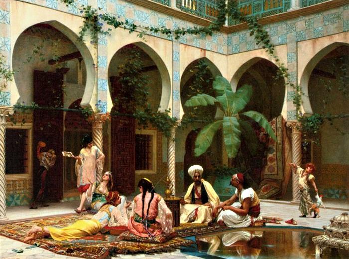 Кроме султана из мужчин в гареме могли находиться только евнухи.