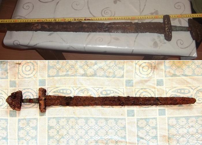 Булатный меч IX-X вв. | Фото: swordmaster.org.