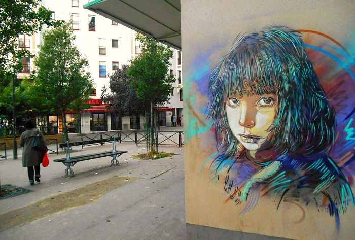 Стрит-арт от французского художника C215.
