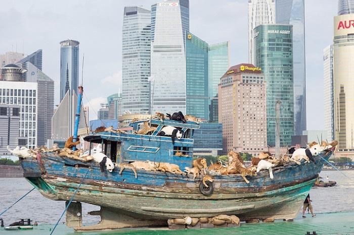 Проект «Девятый вал» художника Cai Guo-Qiang.