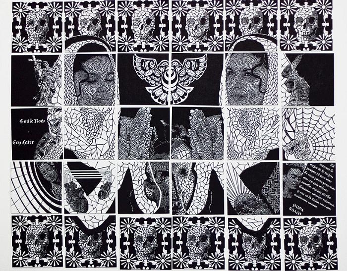 Картина, вырезанная из бумаги художником Carlo Fantin.