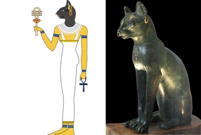 Бастет - египетская богиня с головой кошки. | Фото: historicmysteries.com.