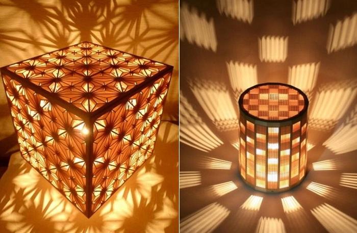 Kumiko - мозаики из деревянных кусочков.